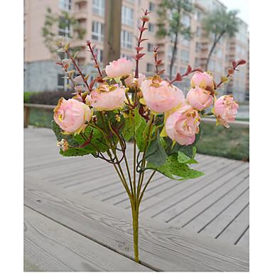 Polyester Bryllup Dekorationer-1piece / Set Kunstig blomst Nytår / Bryllup Rustik Theme Hvid / Lyserød / Orange / Fuchsia / RødForår /