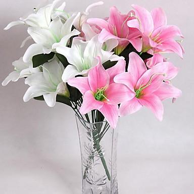 Keinotekoinen Flowers 10 haara Moderni tyyli Liljat Pöytäkukka