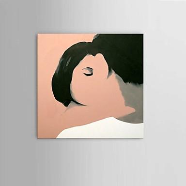 Handgeschilderde Abstract / Mensen / Fantasie / Abstracte portretten Olie schilderijen,Modern / Pastoraal / Europese Stijl Eén paneel