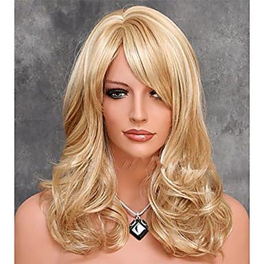 ζεστό πώληση συνθετική περούκα υψηλής ποιότητας μαλακό φυσικό περούκα ξανθιά περούκα κομψό ομαλή περούκα μαλλιά