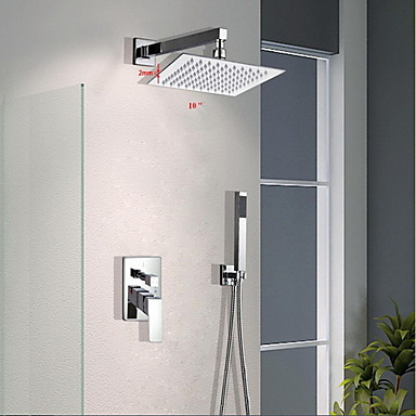 Shower Faucet - Contemporary Chrome Wall Mounted Brass Valve