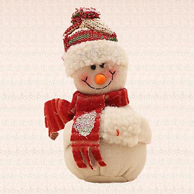 1pc beige Schneemann Anhänger Weihnachtsbaum Anhänger Dekoration zu Hause im Freien Partei liefert