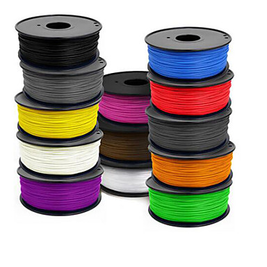 400 (m) 3 d skriverrekvisita 1,75 mm abs 1 kg en rull, 1,0 (g / cm3), tilfeldig farge