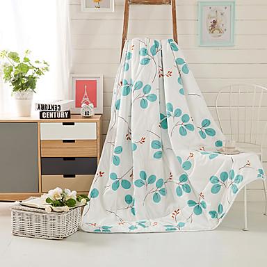 Tecido,Estampado Folha 100% Seda cobertores