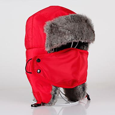Koreahue Pelshat Ski Hat Anti-forurening maske Herre Dame Hold Varm Snowboard Bomuld Klassisk Vintersport Vinter