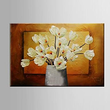 Hang-geschilderd olieverfschilderij Handgeschilderde - Abstract / Landschap / Stilleven Pastoraal / Modern / Europese Stijl Kangas