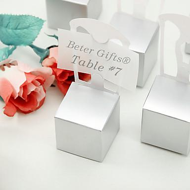Kubusvormig Kaart Papier Bedankjeshouder Met Bedank Doosjes Bedank Tassen Gunst Dozen en Emmers Snoeppotten Cupcake Verpakking en Doosjes