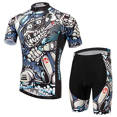 Herrn Kurzarm Fahrradtriktot mit Fahrradhosen Fahhrad Kleidungs-Sets, Rasche Trocknung, Atmungsaktiv