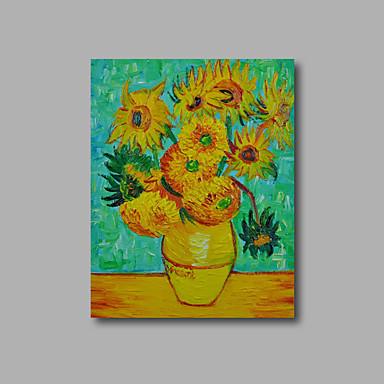 Handgemalte Blumenmuster/Botanisch Vertikal, Modern Segeltuch Hang-Ölgemälde Haus Dekoration Ein Panel