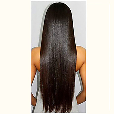cheap Human Hair Wigs-Virgin Human Hair Glueless Full Lace Glueless Lace Front Full Lace Wig Deep Parting style Brazilian Hair Yaki Straight Wig 130% Density with Baby Hair Natural Hairline African American Wig 100% Hand