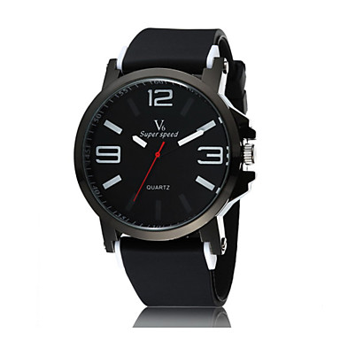 Men's Quartz Wrist Watch Sport Watch Casual Watch Plastic Band Cool Black