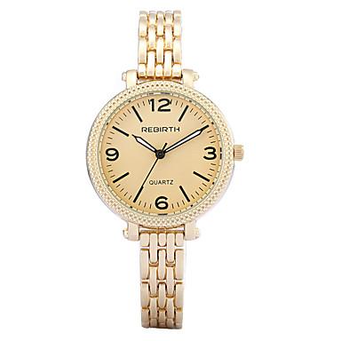 REBIRTH Mulheres Relógio de Pulso Bracele Relógio Relógio de Moda Quartzo / Venda imperdível Lega Banda Casual Elegant Prata Dourada