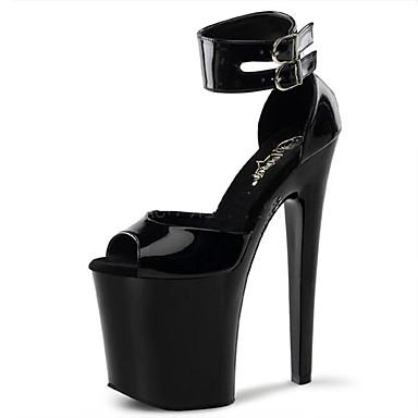 Mujer Zapatos Cuero Patentado Primavera / Verano Zapatos con luz / Zapatos del club Tacones Tacón Stiletto / Plataforma Hebilla / Poroso