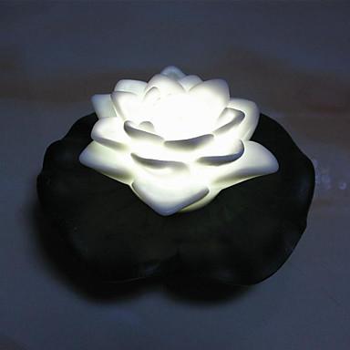 1pc førte batteri lampe etape jul blomst tilbyder nat-lys