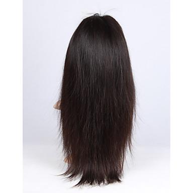 Aidot hiukset Lace Front Peruukki Suora 130% Tiheys 100% käsinsidottu Afro-amerikkalainen peruukki Luonnollinen hiusviiva Lyhyt