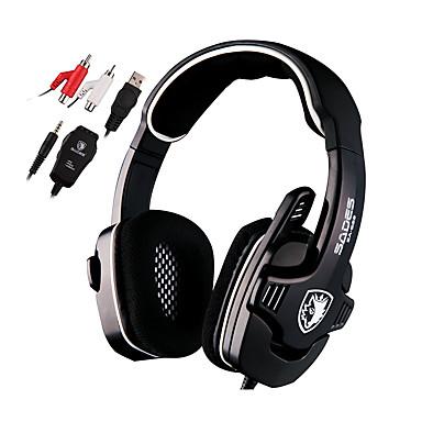 Sades SA922 Høretelefoner (Pandebånd)ForMedie Player/Tablet / ComputerWithMed Mikrofon / DJ / Lydstyrke Kontrol / FM Radio / Gaming /