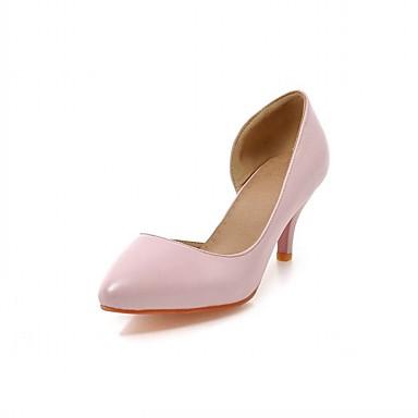 Feminino Sapatos Courino Sintético Couro Envernizado Primavera Verão Outono Inverno Plataforma Básica Conforto Inovador Saltos Caminhada