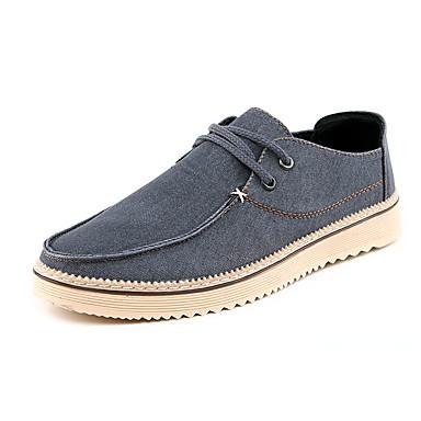 Herre-Denim-Flat hæl-Komfort-Treningssko-Formell Fritid-Blå Brun