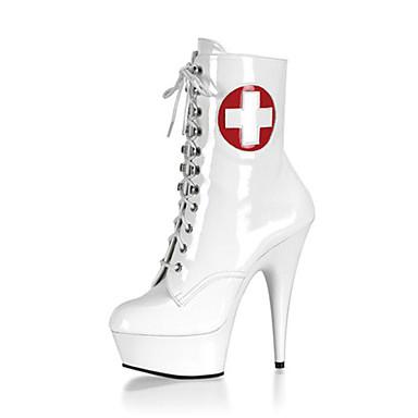 Mujer-Tacón Stiletto Plataforma-Plataforma Botas a la Moda Zapatos del club Light Up Zapatos-Botas-Boda Vestido Fiesta y Noche-Cuero