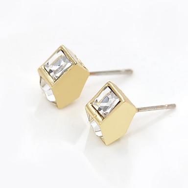 Stangøreringe Legering Rhinsten Imitation Diamond Mode Geometrisk form Sølv Gylden Smykker Daglig Afslappet 1 par