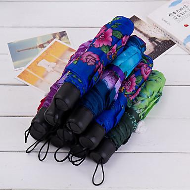 1pcs Tekstil Silikone Metal Herre Dame Pige Drenge Solparaply solrig og regnfuld Regn Sammenfoldet paraply