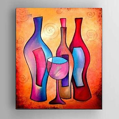 Håndmalte Abstrakt / Still Life / fantasi / Abstrakte Landskap olje malerier,Klassisk / Middelhavet / Parfymert