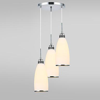 moderne de sticlă umbra cluster candelabru 3-cap de camera de zi sala de mese pandantiv lampă