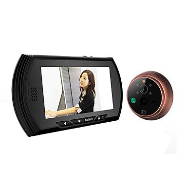 4.3 színes LCD képernyő csengő néző digitális ajtó kukucskáló nézőt kamera  ajtó szem videofelvétel 140 fokban 5ca43aa961