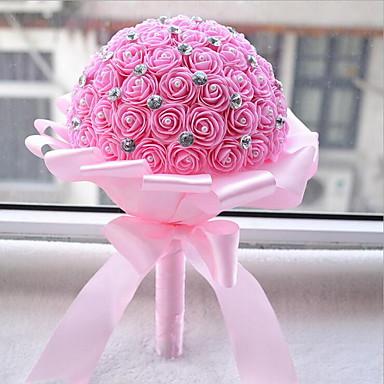 1 Tak Echt aanvoelend Rozen mand met bloemen Kunstbloemen