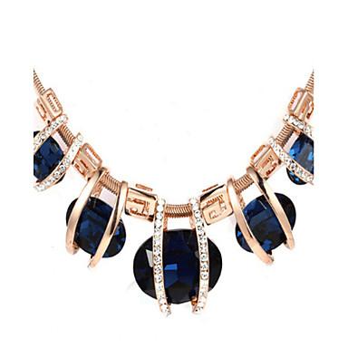 Dame Kort halskæde Halskædevedhæng Krystal Syntetiske ædelstene Krystal Simuleret diamant Sexet Mode luksus smykker Smykker Til Bryllup