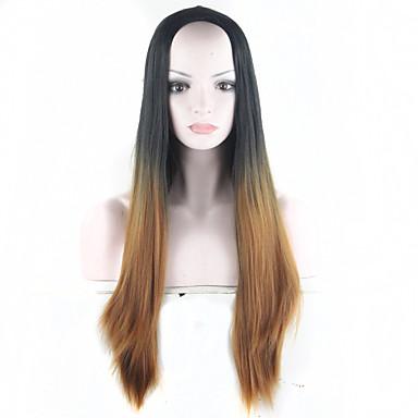 sort- brune ombre paryk syntetiske parykker til kvinder 28