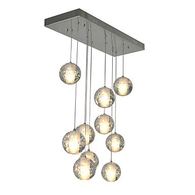 Moderne / Nutidig Anheng Lys Omgivelseslys - Krystall, 90-240V Pære Inkludert
