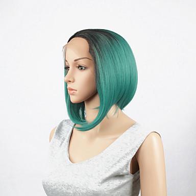 Syntetiske parykker Rett Blonde Forside Blonde Parykk Syntetisk hår
