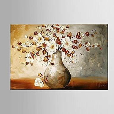 Hang-Painted Oliemaleri Hånd malede - Blomstret / Botanisk Europæisk Stil / Moderne / Parfumeret Lærred