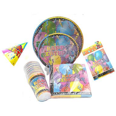 Geburtstag Party-Geschirr-Geschirr-Sets Rund ums Backen Blütenblätter Kartonpapier Klassisch
