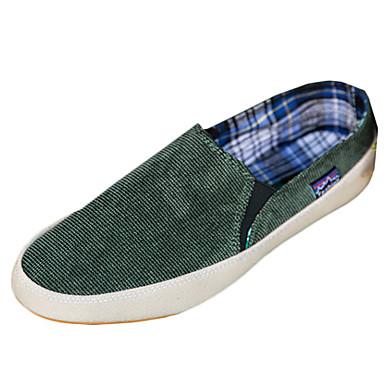 Heren Schoenen Denim Lente / Winter Comfortabel Loafers & Slip-Ons Wandelen Bruin / Rood / Groen