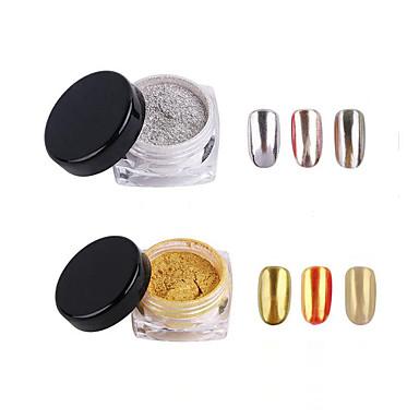 2 pcs Joyería de uñas / Glitter y Poudre / Polvo Glitters / Clásico Nail Art Design Diario