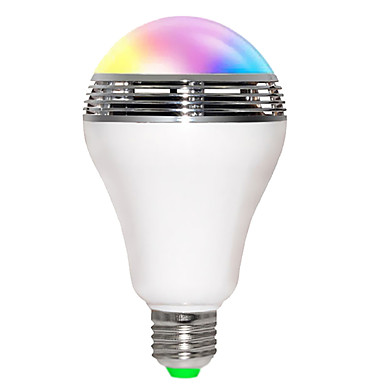 JIAWEN 5W 200-250lm E26 / E27 Smart LED-lampe B 10 LED Perler SMD 5730 Bluetooth Wifi Lydaktiveret RGB 85-265V