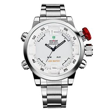 WEIDE Pánské Křemenný Japonské Quartz Hodinky k šatům Sportovní hodinky Alarm Kalendář Chronograf Voděodolné LED Hodinky s dvojitým časem