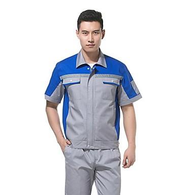 66fbba4a602 kortærmede overalls jakkesæt svejsning beskyttende tøj til mænd og kvinder  i sommeren tøj værksted (sælges