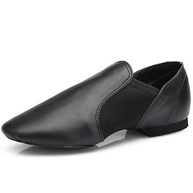 Mujer Zapatos de Jazz Cuero Plano Tacón Plano Personalizables Zapatos de baile Negro / Interior