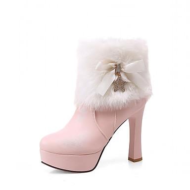 Damen-Stiefel-Hochzeit Büro Kleid Lässig Party & Festivität-Kunststoff Lackleder Kunstleder-Blockabsatz-Cowboy / Western Stiefel