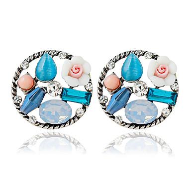 Modieus Legering Cirkelvorm Blauw Sieraden Voor Bruiloft 1 paar