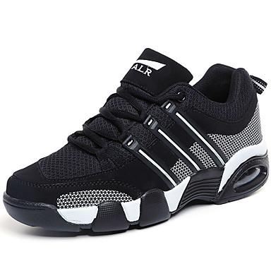 Sneakers-Tyl-Komfort-Herre-Blå Rød Hvid-Udendørs Fritid Sport-Flad hæl