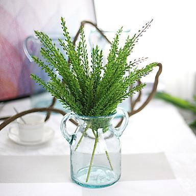 1pc 1 Afdeling Polyester / Plastik Planter Bordblomst Kunstige blomster 14.17inch/36CM