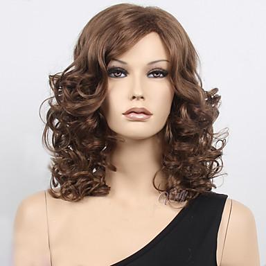 Syntetisk hår Parykker Bølget Lokkløs Naturlig parykk Medium Blond