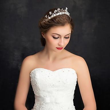 Mulheres Menina das Flores Strass Liga Imitação de Pérola Capacete-Casamento Ocasião Especial Casual Bandanas 1 Peça