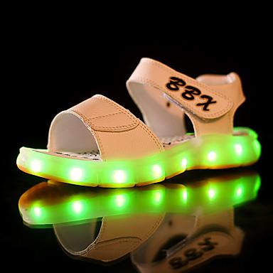 Jungen Schuhe PU Sommer Leuchtende LED-Schuhe Sandalen LED für Schwarz / Dunkelblau / Braun
