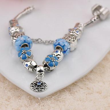 Dame Strand Armbånd Mote Med perler Glass Sirkelformet Smykker Til