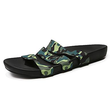 Masculino-Chinelos e flip-flops-Conforto-Rasteiro--Tecido-Casual